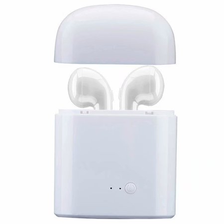 VicTsing HBQ I7 TWS Twins Wireless Earbuds Mini Bluetooth Headset Earphone with Charging Case for iPhone X 8 7 6s 6 Plus SE Samsung Galaxy and other cellphones (White) (Bose In Ear Earphones Review)
