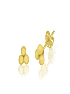14K Yellow Gold 3-Ball Classic Stud