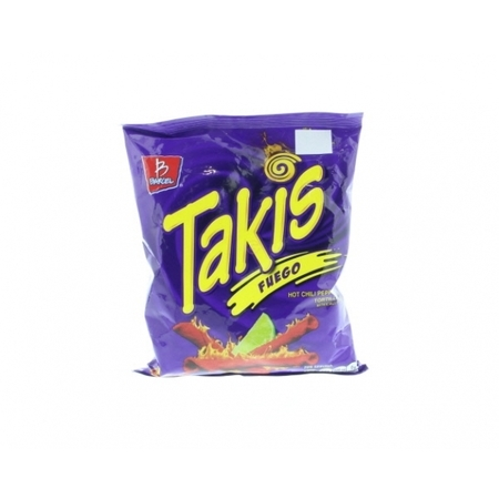 (6 Pack) Takis Tortilla Chips Hot Chili Pepper and Lime - Chile y Limon 4 Oz