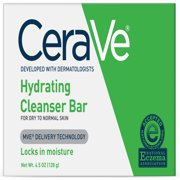 (2 pack) CeraVe Hydrating Cleansing Bar for Face and Body 4.5 oz.