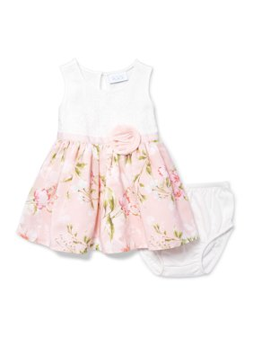 Floral 2Fer Dress (Baby Girls)