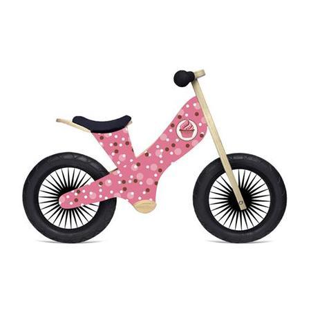- Kinderfeets Retro Wooden Balance Bike, Cupcake