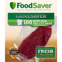Foodsaver GameSaver GBQ100-000 Quart Bags 100 pack - Pre-Cut - Heat-Seal