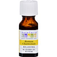 Aura Cacia Roman Chamomile Essential Oil with Jojoba Oil .5 Fl oz.