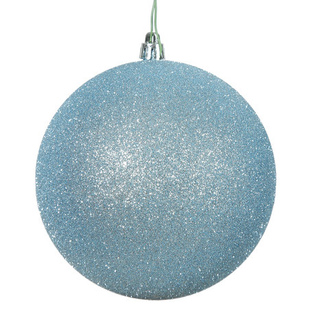 "2.75"" Baby Blue Glitter Ball Drilled 12/"