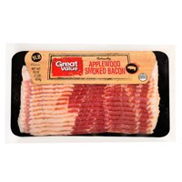 Great Value Applewood Smoked Bacon, 16 Oz.
