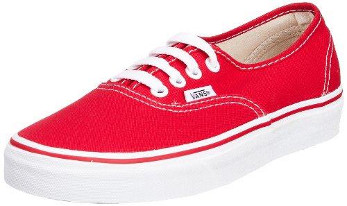 Vans VN-0EE3RED: Unisex Authentic Skate Red Unisex Sneakers (8.5 US Men 10 US Women, Red) (Red Kids Vans)
