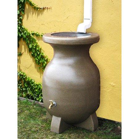Kyoto 55 Gallon Sand-Stone-Look Rain Barrel ()