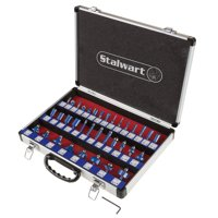 Stalwart Router Bit Set With 35-Piece Kit And 1/4-Inch Shank And Storage Case