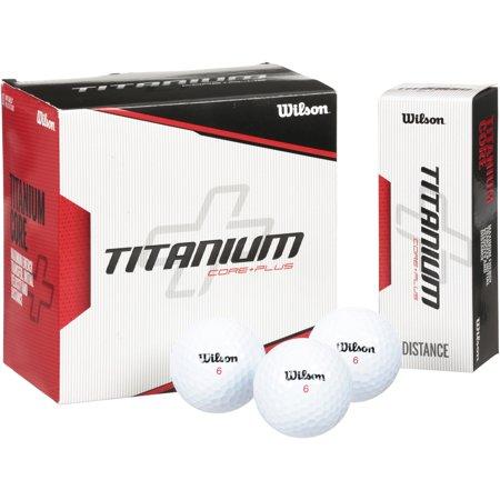 Wilson Titanium Golf Balls, 18 Pack (Purple Golf Balls)