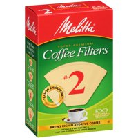 Melitta #2 Natural Brown Cone Coffee Filters, 100 Ct