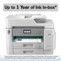 Brother MFC-J5945DW INKvestment Tank Color Inkjet All-in-One Wireless Printer with NFC and Up to 1-Year of Ink In-box