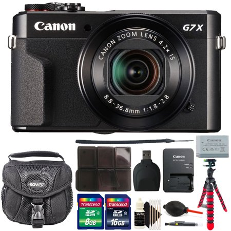 Canon G7X Mark II PowerShot 20.1MP BLACK Digital Camera with 24GB Accessory Kit Black Canon Powershot A85 Accessory