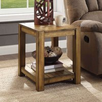 Better Homes & Gardens Bryant Solid Wood End Table, Rustic Maple Brown Finish