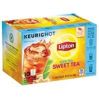 Product Image Lipton Sweet Tea K Cups Pods Iced Black 10 Ct
