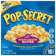 Pop Secret Movie Theater Butter Microwave Popcorn, 1.75 Oz., 10 Bag