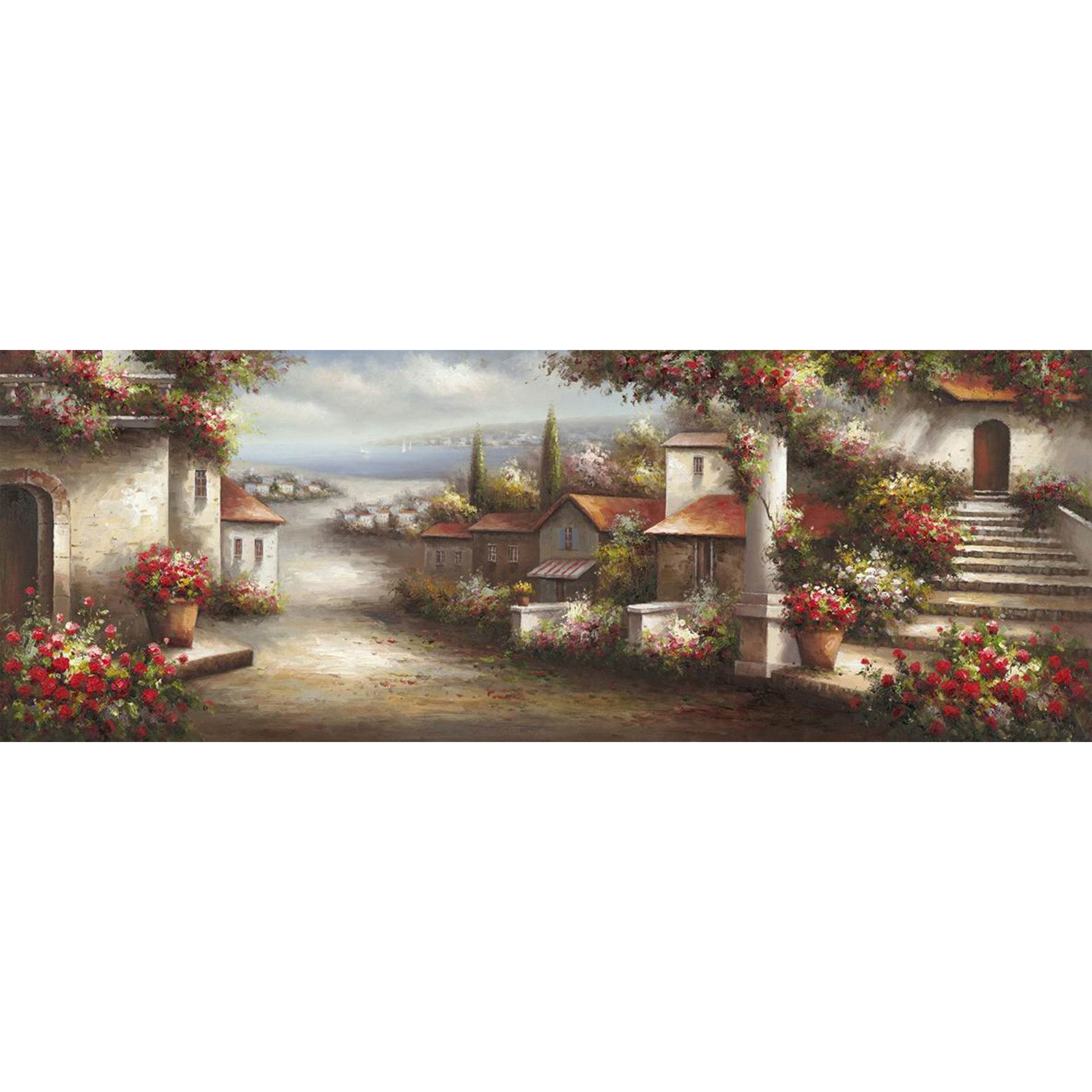 Yosemite Home Decor YJ140887B Charlestown Beach Wall Art Room Décor