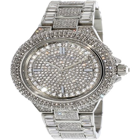 - Women's Camille MK5869 Silver Stainless-Steel Japanese Quartz Fashion Watch
