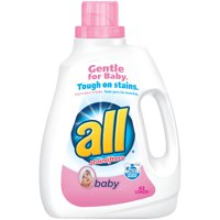 all Baby Liquid Laundry Detergent, Gentle for Baby, 94.5 Ounce, 63 Loads