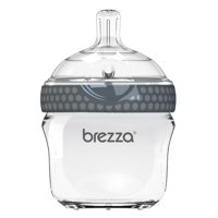 Baby Brezza Natural Glass Baby Bottle - Easiest to Clean - 5oz, 1 Pack