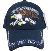 b7800bd2fbd US Air Force We Own The Skies with Eagle Mens Cap  Dark Navy Blue -