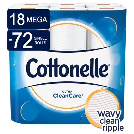 Cottonelle Ultra CleanCare Toilet Paper, Strong, 18 Mega Rolls (=72 Regular Rolls)](Empty Toilet Paper Rolls)