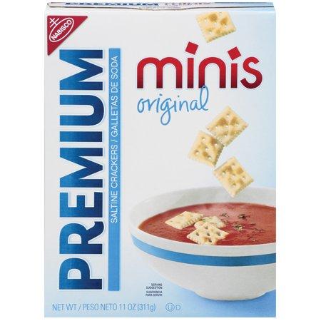 Prmium Mini (Nabisco Minis Premium Original Saltine Crackers, 11 Oz. )