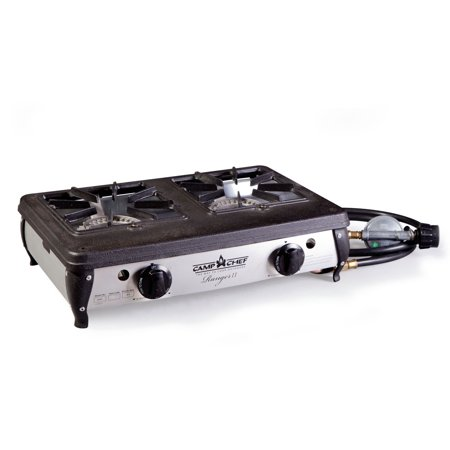 Camp Chef Ranger II Portable Outdoor Camping 2 Burner Propane Cooking Stove