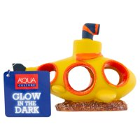 Aqua Culture Yellow Submarium Glow in the Dark Aquarium Ornamanet