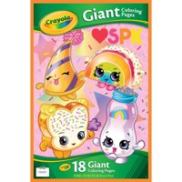 Crayola Shopkins Giant Coloring Pages, Gift For Kids, 18 Pages