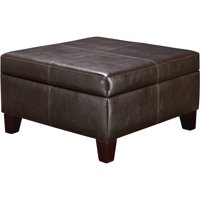 Faux Leather Ottomans Walmartcom