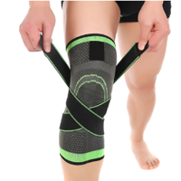 3D Weaving Knee Brace Breathable Sleeve Support for Running Jogging Sports 1pcs