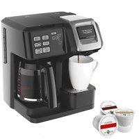Hamilton Beach FlexBrew 2-Way Brewer Programmable Coffee Maker (49976) with Assorted K Cup Sampler