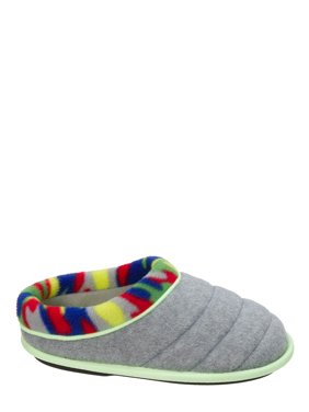 DF by Dearfoams Boys' Quilted Clog with Glow Slippers