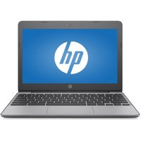 "HP 11-v010wm 11.6"" Chromebook, Chrome, Intel Celeron N3060 Processor, 4GB RAM, 16GB eMMC Drive"
