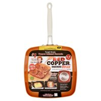 "As Seen On Tv Red Copper Square Dance 9.5"" Non-Stick Square Pan"