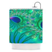 d242219bf40d Kess Inhouse Peacock Feather Shower Curtains