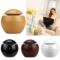 Dilwe Oil Diffuser, Aroma Humidifier,USB Essential LED Touch Aroma Ultrasonic Humidifier Oil Diffuser Air Purifier White/Black/Brown/Yellow