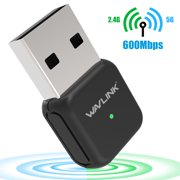 600Mbps Mini Wireless Dual Band 2.4/5GHz USB WIFI Adapter LAN Antenna Network Adapter Dongle 802.11ac/a/b/g/n-Wavlink