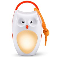 SOAIY White Noise Sound Machine & Sleep Aid Night Light. New Baby Gift, Owl Decor Nursery & Portable Soother Stuffed Animals Owl with 7 Popular Songs for Crib