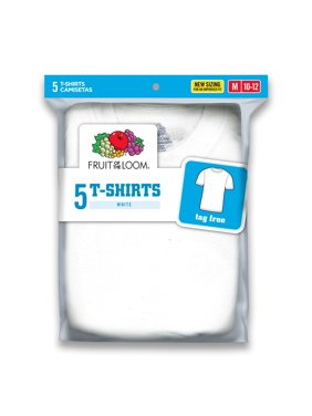 Classic White Crew T-Shirts, 5 Pack (Little Boys & Big Boys)