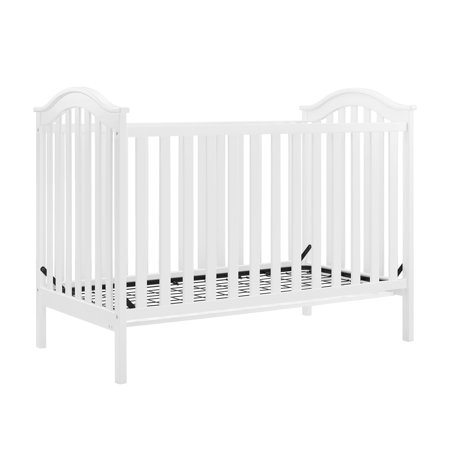 Baby Relax Adelyn 2 In 1 Convertible Crib White Walmart Com