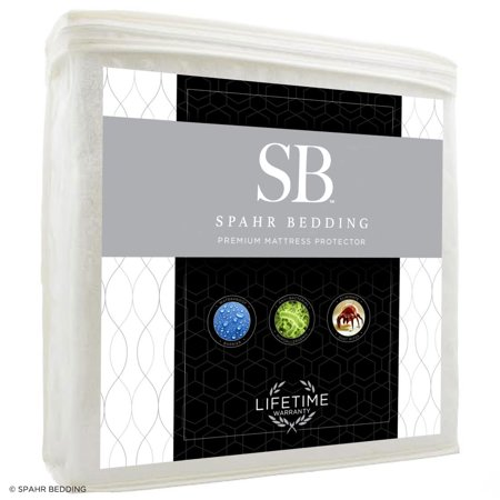 Spahr Bedding Cal King Hypoallergenic Mattress Protector - Cotton (Bedding Mattress)