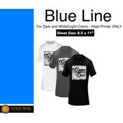 a1957f00f2 Blue Line Dark Iron On Heat Transfer Paper for Inkjet 8.5 X 11 - 10 Sheets