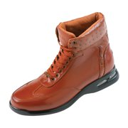 241c3582568 Pelle Pelle Mens High Top Air Bottom Casual Sneaker Boot in Black Smooth