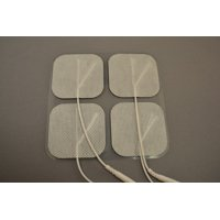 20 Electrode Pads EMS, Tens 7000, 3000 Units - 2x2Inch White Cloth