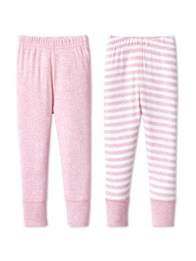 Cotton Pants, 2pk (Baby Girls)