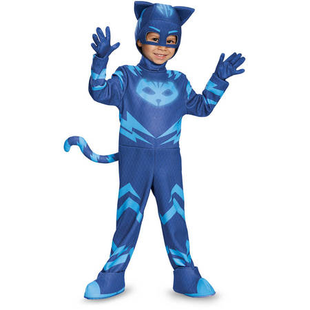 PJ Masks Catboy Deluxe Child Halloween Costume - Kate Middleton Halloween Costume Blue Dress