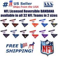 Pets First NFL Chicago Bears Dog Bandana - Licensed, Reversible Pet Bandana - 2 sided Bandana