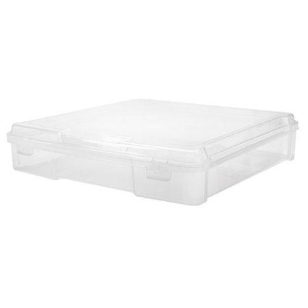 12 X 12 Paper Storage - IRIS Plastic Scrapbook Case for 12 x 12 Inch scrapbook paper, Clear Set of 6